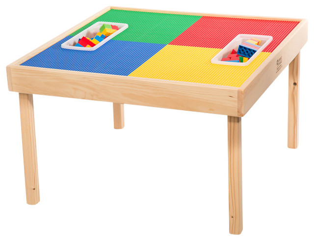 Lego Compatible Play Table With Storage Bag And Play Table