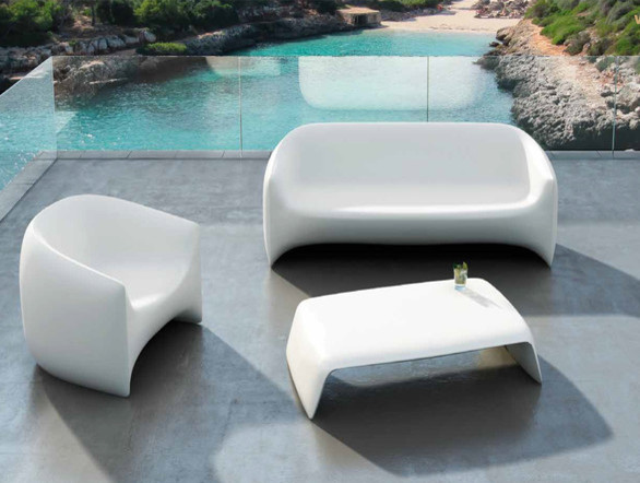 Salon De Jardin Polywood Plastic Outdoor Sofa Outdoor Sofa Bar Led Light Emitting