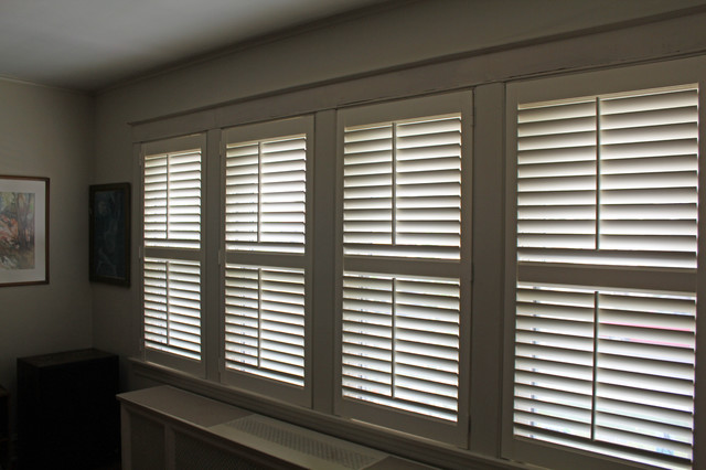 40S Chicago Bungalow Plantation Shutters - Craftsman - Chicago