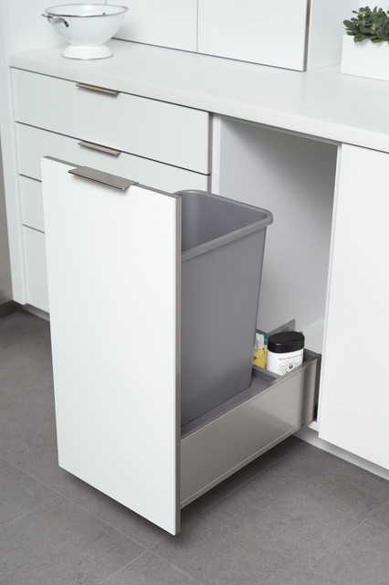 Side By Side Einbau Stainless Steel Roll-out Trash Bin Cabinet From Dura