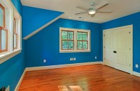 Bright blue bedroom walls