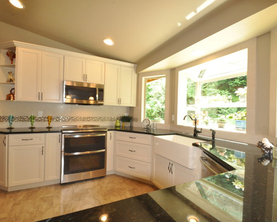small shaped kitchen design photos vinyl floors inspiration small transitional shaped kitchen remodel