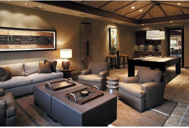 Kukio Game Room - Kolonialstil - Wohnzimmer - Hawaii - von Willman - wohnzimmer kolonialstil