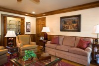 Masculine Family Room - Traditional - Living Room ...