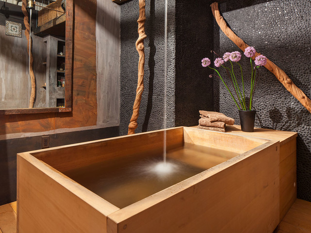 Badezimmer Mülleimer Holz Bathroom With Japanese Wooden Soaking Tub