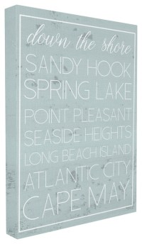 Down The Jersey Shore List - Contemporary - Novelty Signs ...