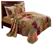 Greenland Home Antique Chic Bedspread Set, 3-Piece Full ...