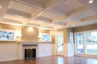 Great Room Coffered Ceiling - Contemporary - Living Room ...