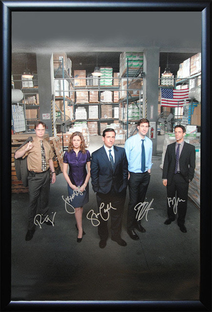 The Office Signed Framed Poster - Modern - Prints And Posters - by
