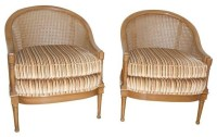 Chairish Used Mid-Century Cane Back Barrel Chairs - A Pair ...