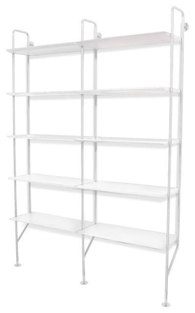 Blu Dot Hitch Add On Bookcase White White Modern