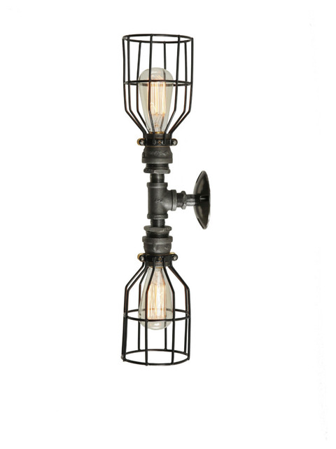 industrial wire wall light