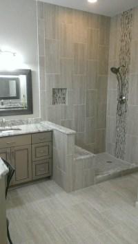 """MASTER BATHROOM - Complete remodel 12"""" x 24"""" Vertical Tile ..."""