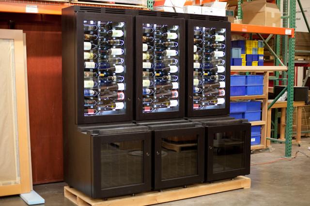 Custom Refrigerated Wine Cabinet Contemporary Wine