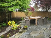 Modern Cottage Shade Garden with native plants & and stone ...