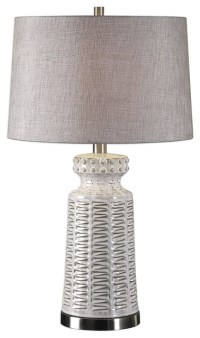 The Distressed White Table Lamp Kansa Distressed White ...