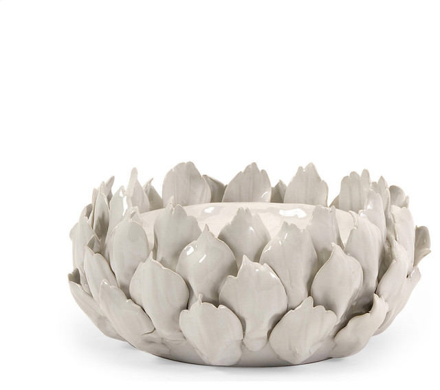 Low Artichoke Candle Holder Contemporary Candles And