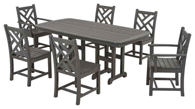 Polywood Chippendale 7 Piece Dining Set Contemporary