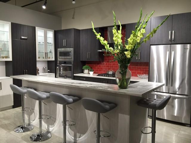 modern grey kitchen red backsplash modern kitchen toronto awesome kitchen backsplash ideas decoholic