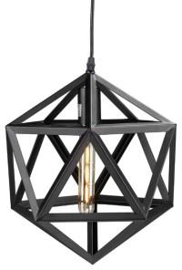 Lecava Geometric Cage Pendant Lamp - Industrial - Pendant ...