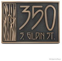 Cattail Craftsman House Numbers - Arts & Crafts - House ...