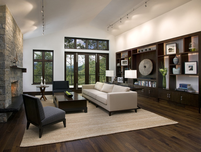 Mountain Home Living Room - Contemporary - Living Room - San - living room with wood floors