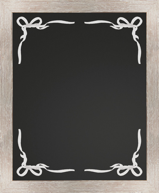 Border Chalkboard, White - Rustic - Bulletin Boards And Chalkboards - chalk borders