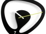 Seven 2085 Black Wall Clock   Contemporary   Wall Clocks   By Modo