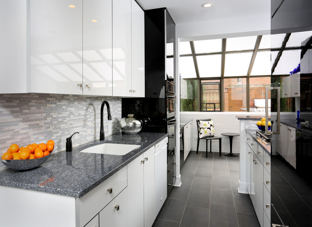 Modern Galley Kitchen Design - Contemporary - Kitchen - Chicago - galley kitchen design