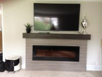After Linear Fireplace surround with box mantle
