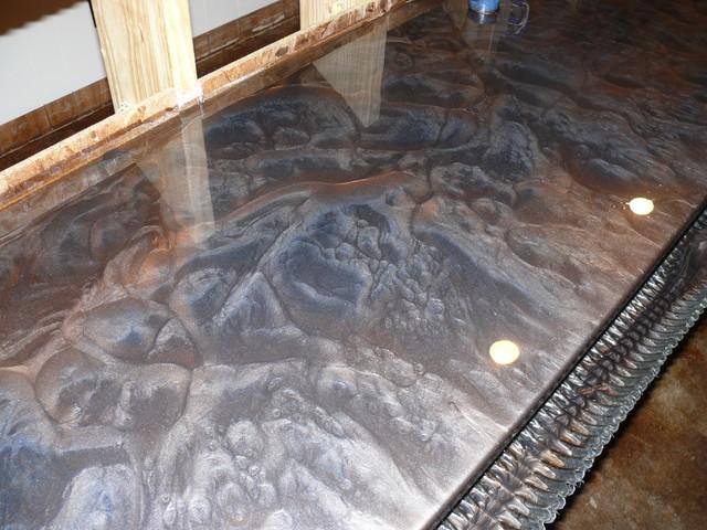 3d Faux Stone Wallpaper Metallic Epoxy Systems Contemporary Nashville By Epo