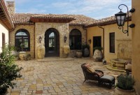 Entry courtyard - Mediterranean - Patio - Santa Barbara ...