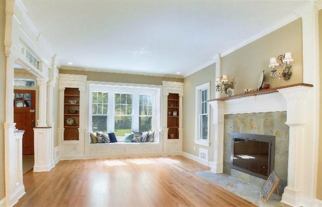 Fair Hill Living room window seat and built inu0027s - Westfield, NJ - living room windows