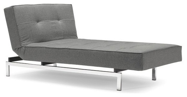 Méridiennes Contemporaines Meridienne Design Splitback Lounger Gris Convertible Lit