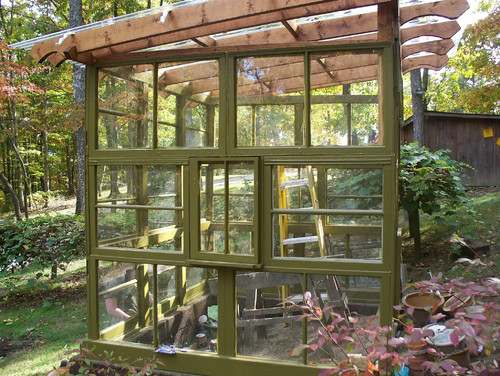 Greenhouses From Old Windows And Doors O Insteading