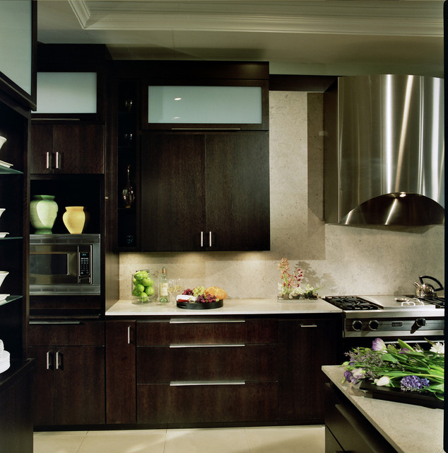 Kitchen Island Overhang For Stools Modern Kitchen Built In Appliances - Contemporary