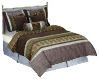 Tache Autumn Meadow South Asian Chenille Comforter Set ...
