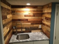 Pallet Wood Backsplash - Rustic - Basement - Columbus - by ...