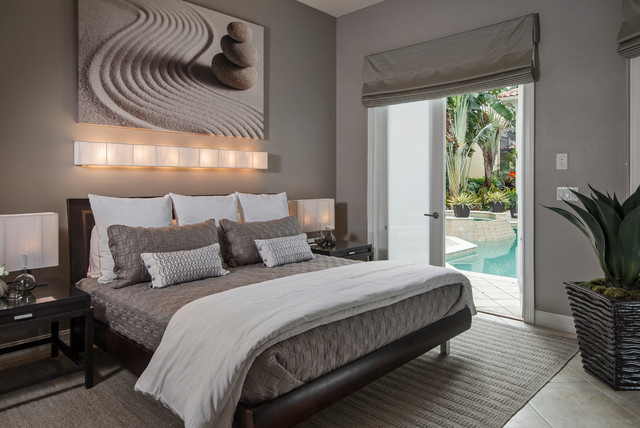 Houzz Rug Sale Pelican Marsh Residence - Contemporary - Bedroom - Miami