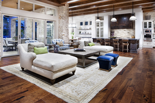 Hill Country Modern - Contemporary - Living Room - Austin - by - modern country living room
