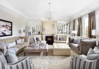 Classic & Luxurious Neutral cream and grey Living Room