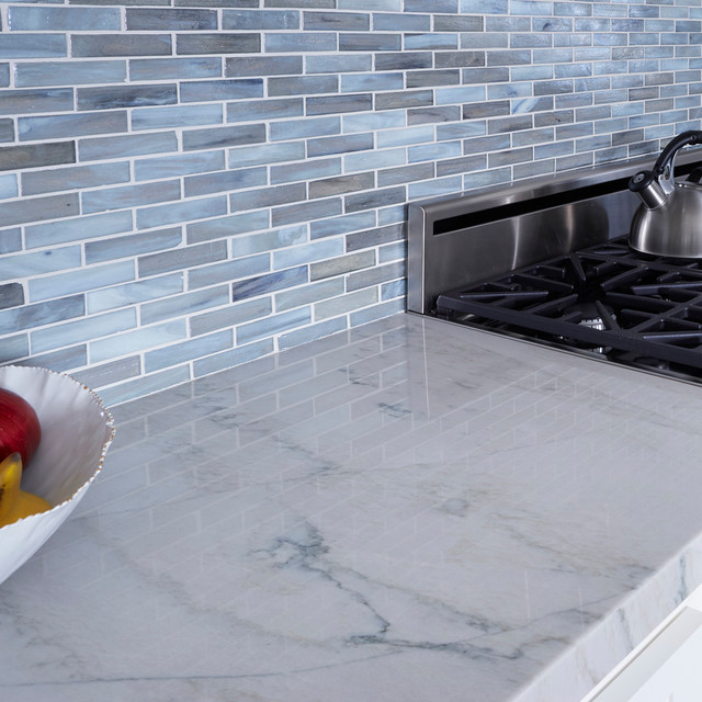 Gray Kitchen Cabinets For Sale Shimmer Glass - Kitchen - Los Angeles - By Arizona Tile