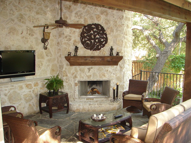Cheap Sofas Under 100 Hill Country Retreat - Traditional - Patio - Dallas - By