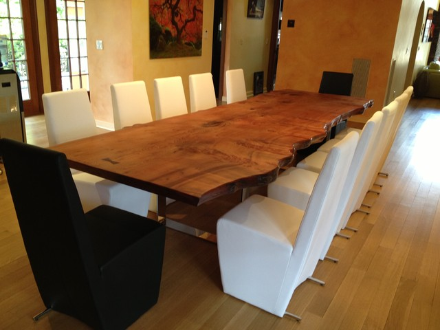 Esstisch Naturholzplatte Slab Dining Table - Traditional - Dining Room - New York