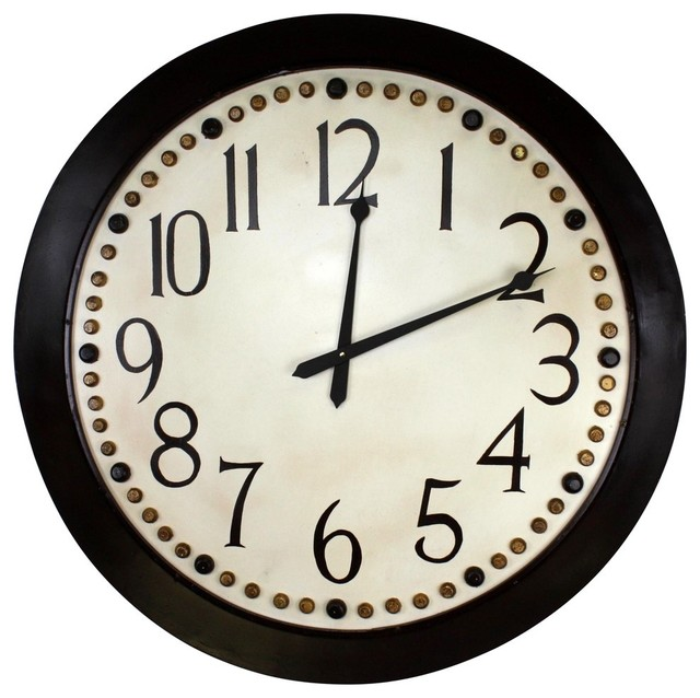 Marseilles Oversized Wall Clock - Transitional - Wall Clocks - by Dr - dr livingstone i presume accessories