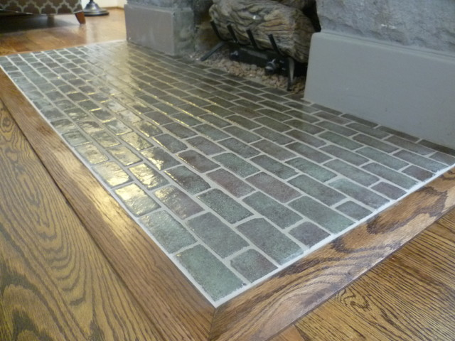 Nashville General Contractors Handmade Tile Hearth - Traditional - Living Room