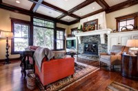 Hearth Room Built-ins and Fireplace - Traditional - Living ...