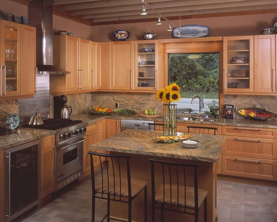kitchen design photos multi colored backsplash light wood design ideas design style dining room fireplace furniture garden