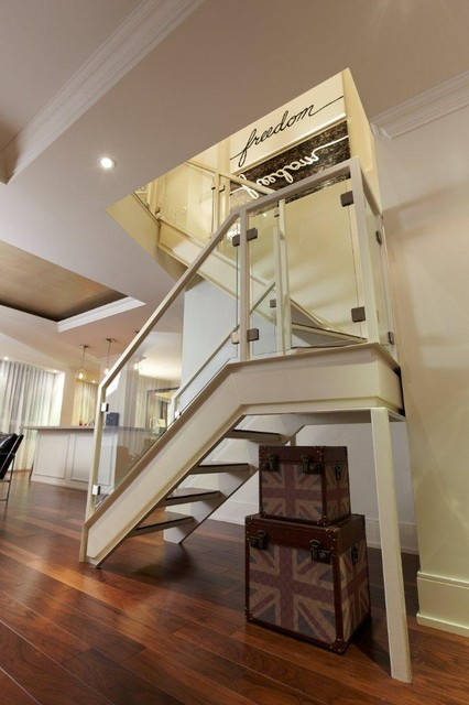 Staircase Hanging Lights St Lawrence Market Condo - Stairs - Modern - Staircase