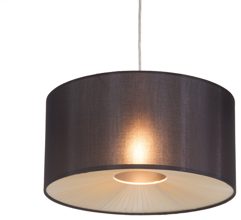 Ceiling Light Shades Black Fabric Easy To Fit Ceiling Light Shade With A Ribbon Diffuser